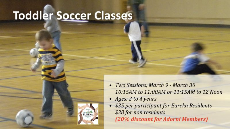 Two Toddler Soccer Classes Returning in March